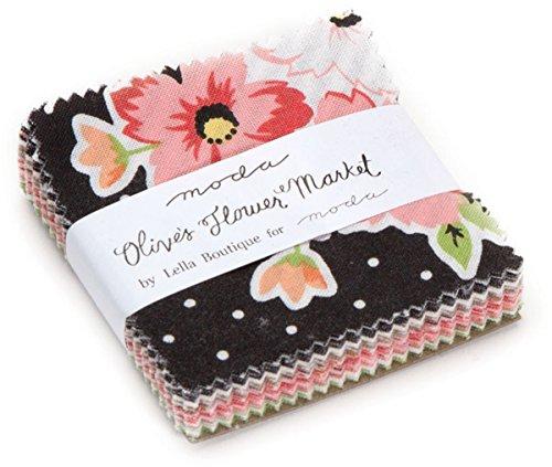 Mini Paper Charms (Olive's Flower Market Mini Charm Pack By Lella Boutique; 42 - 2.5