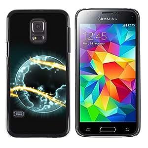 Stuss Case / Funda Carcasa protectora - Alien Planet Universe Eternity Fire Symbol Art - Samsung Galaxy S5 Mini, SM-G800, NOT S5 REGULAR!