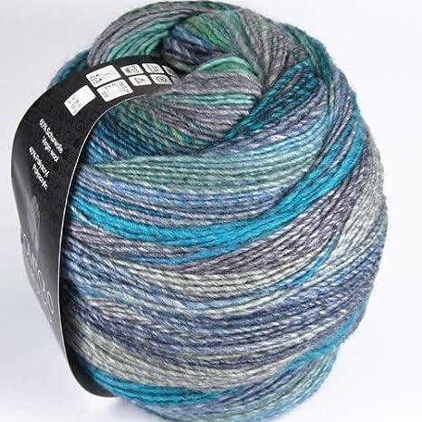Lana Grossa Gomitolo Molto 604 Bleu/Vert/Gris/Turquoise ...