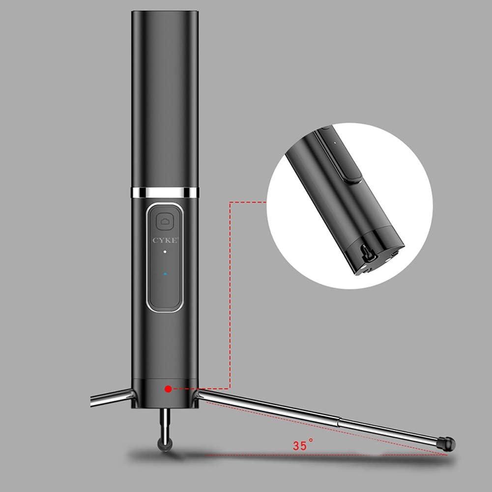 Misszhang-US Portable Telescopic Mobile Phone Bluetooth Selfie Stick Mini Monopod Holder Black