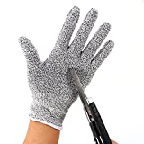 Blue Stones 1Pair Anti-cut gloves Safety Cut Proof Stab Resistant Gloves Elastic Fiber Mesh Butcher Glove Breathable Security Gloves S M L