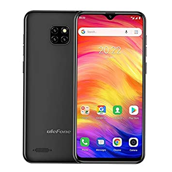 Unlocked Cell Phones Canada Ulefone Note 7, Android 8 1 Unlocked Smartphone  Dual Sim Face Unlock 6 1'' Waterdrop Screen 16GB 8MP Triple Camera 3500