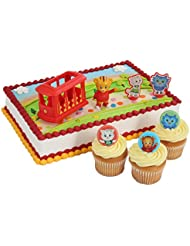 Daniel Tiger Officially Licensed Cake Topper and 24 Cupcake Topper Rings