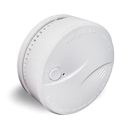 10 Años de batería life-ceiling mounted Standalone fotoeléctrico Humo Alarma Contra Incendios detector de