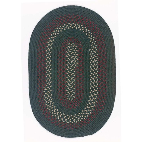 Oval Deerfield Style Braided Rug in Hunter Green (Hunter Green) (.5