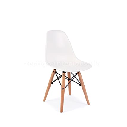 1 X Eames Style Kids DSW Dining Playroom Bedroom Side Chair - White  sc 1 st  Amazon.com & Amazon.com - 1 X Eames Style Kids DSW Dining Playroom Bedroom Side ...