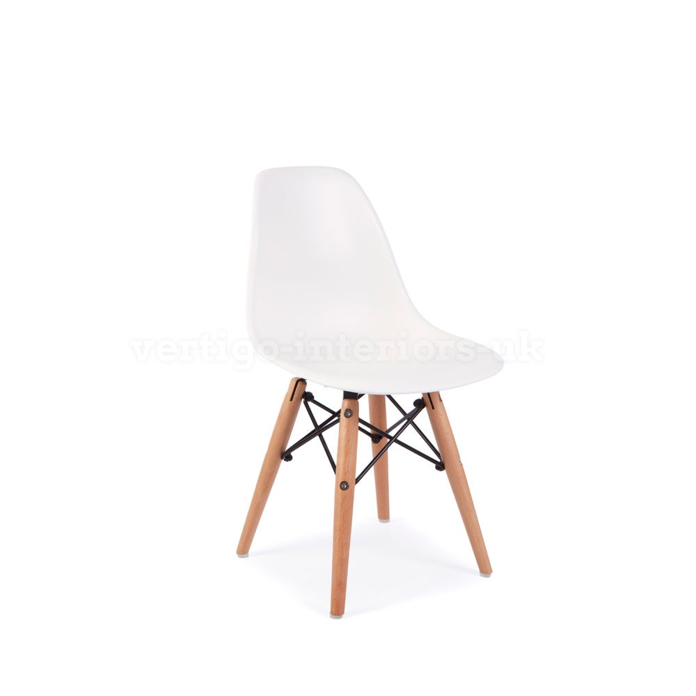 *Set of 2* High Quality Eames Style Kids DSW Dining Playroom Bedroom Side Chair - White