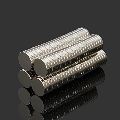 Effetool 100pcs N52 NdFeB Super Strong Disc Magnets 10mm x 2mm Rare Earth Neodymium Magnets SINGLE ITEM