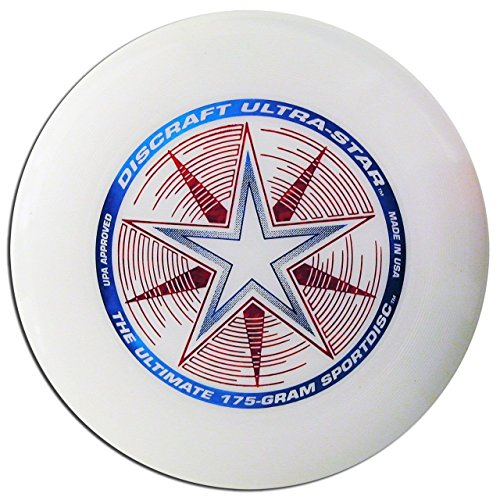 (Ship from USA) DISCRAFT ULTRA-STAR ULTIMATE DISC - WHITE COMPETITION STANDARD 175gREGULATION -ITEM#: (Best Generic Frisbees)