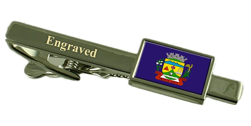 Amazon.com: Monte Azul City Minas Gerais State Flag Tie Clip Engraved in Pouch: Jewelry