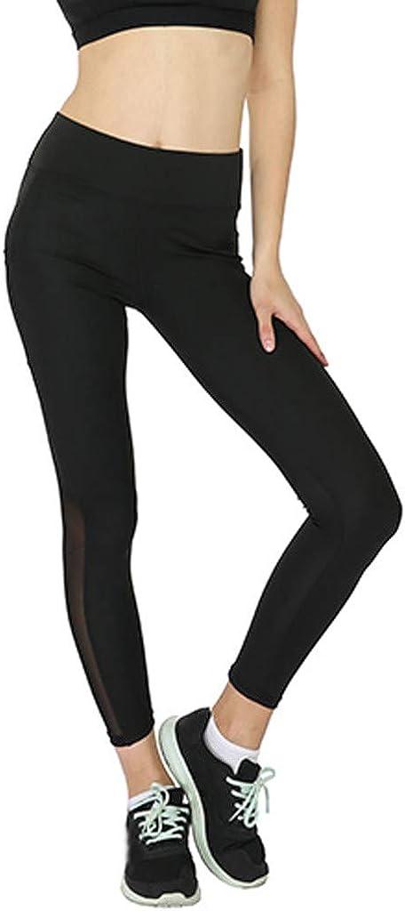 Leggings deporte mujer bolsillos Pantalones de fitness para mujer Pantalones de yoga deportivos con costuras de malla Leggins mujer fitness push up cintura alta Leggings mujer vestir tallas grandes