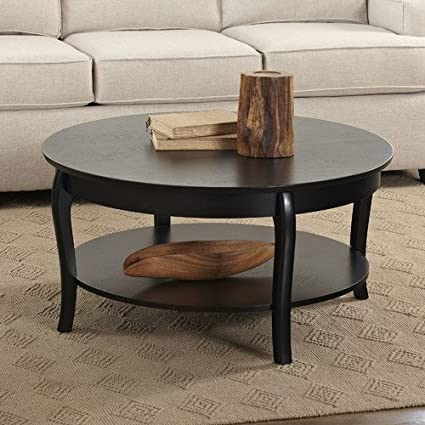 Birch Lane Alberts Round Coffee Table, Black By Birch Lane