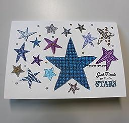 ''Good Friends....Stars'' Greeting Card 5'' x 7''