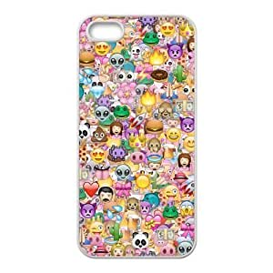 New Fashion Cover Case for iPhone 5,5S with custom Funny Emoji Face