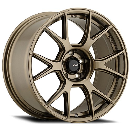 "18"" Inch Konig 56BZ Ampliform 18x9.5 5x114.3 +25mm Bronze Wh"