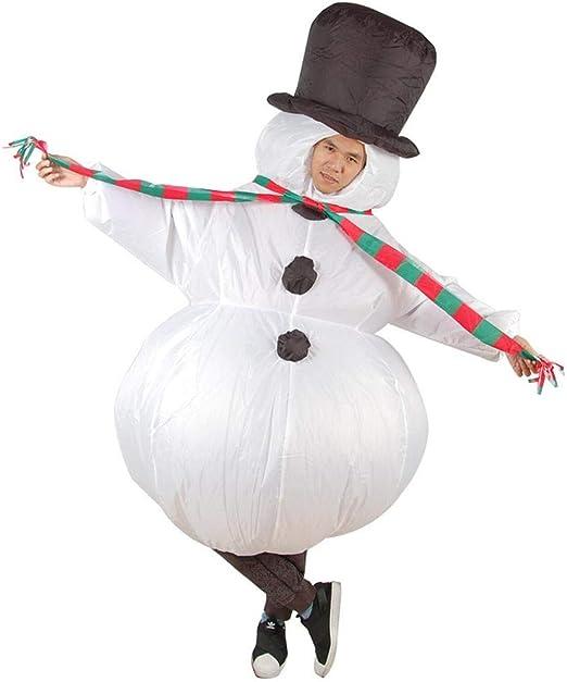 MHSHCQ Inflable Monigote de Nieve Disfraz para Adultos Fancy Blow ...