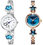 Attractionz Analog Multi-Colour Dial Women's & Girl's Watch - BF/BS (Pack of 2 with Box)