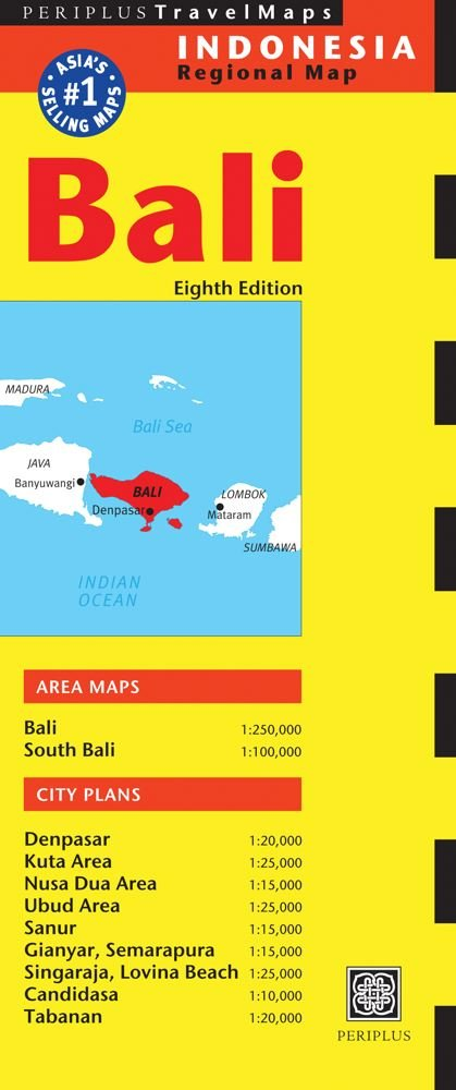 Bali Travel Map Eighth Edition Periplus Travel Maps