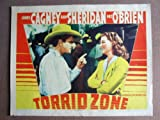 FO21 Torrid Zone JAMES CAGNEY/ANN SHERIDAN Lobby Card. This is a lobby card NOT a video or DVD. Lobby cards were displayed in movie theaters to advertise the film. Lobby cards measure 11 by 14 inches.