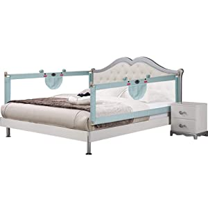 Bed Rail for Toddlers Extra Long Bed Rail Guard Bed NO Gap Bedrail Safety Guard Rail for Queen & King Size Mattress Extra Tall 70.8