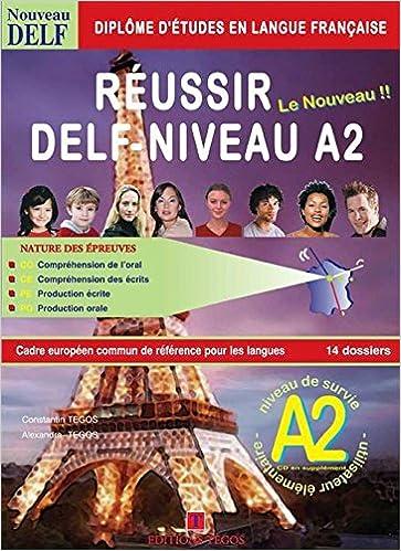 Book Réussir le Delf A2 + Corrigés + CD