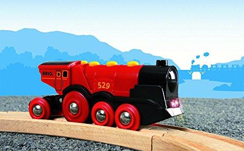 BRIO Eisenbahn Elektrische Lok, Brio World Eisenbahn Zubehör, Holzeisenbahn, Rote Lola 5