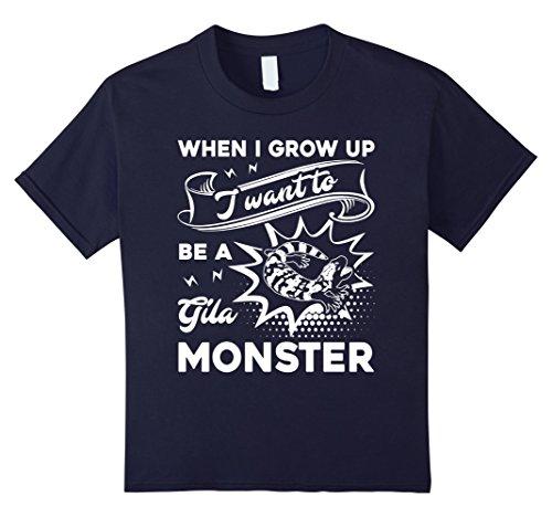 Gila Girl (Kids Gila Monster Shirt - I Want To Gila Monster Tshirts 4 Navy)