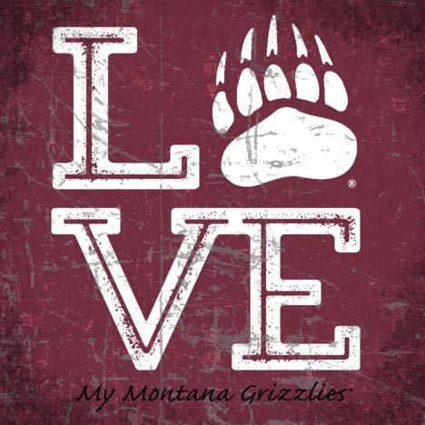 Prints Charming College Love My Team Logo Square Color Montana Grizzlies Unframed Poster 12x12 (Montana Logo Square)