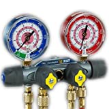 Yellow Jacket 49997 Titan 4-Valve Test and Charging Manifold degrees F, psi Scale, R-22/134A/404A Refrigerant, Liquid Gauges