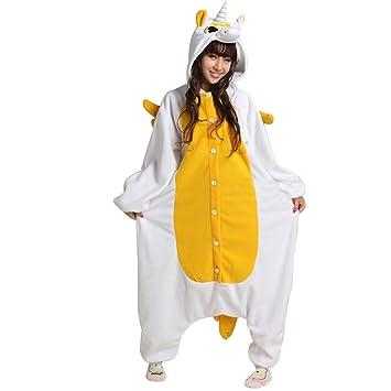 Ferrand Kigurumi Pijamas Unisexo Adulto Traje Disfraz Animal Adulto Animal Pyjamas Unicornio Dorado XL