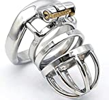 ZCLianer Male Chasti-TY Device Made of Stainless Steel, Cage Length 45mm B2-30 (40MM Ring)