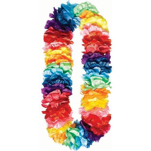 Amscan Hawaiian Summer Luau Party Paradise Lei Accessory, Rainbow, plastic , -