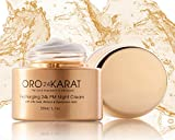 ORO24KARAT Recharging 24k PM Night Cream Daily Care Quick-Absorbption New Anti-Aging Formula Made with 24k Gold Made in the USA (1.7oz) For Sale