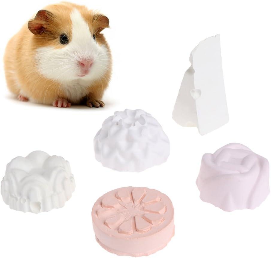 Biniwa – 1 Pieza de Piedra de afilar de Dientes de Mascota, Mineral de Calcio, para Animales pequeños, hámster, Loro, Rata, Ardilla, Juguete de Masticar