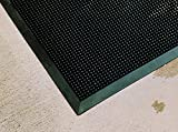 Rhino Mats FT3660 Recycled Heavy-Duty Rubber Tritan Finger Tip Entrance Mat, 36'' Width x 60'' Length x 5/8'' Thickness, Black