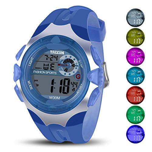 f995521eb0e Kids Digital Watch - 100FT Waterproof LED Sport Hand Watch with Alarm