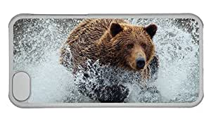 Hipster cheap iPhone 5C cover Bear Running PC Transparent for Apple iPhone 5C