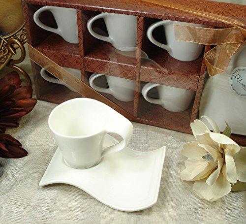 D'Lusso Designs Twelve Piece Biscotti Saucer Espresso Set