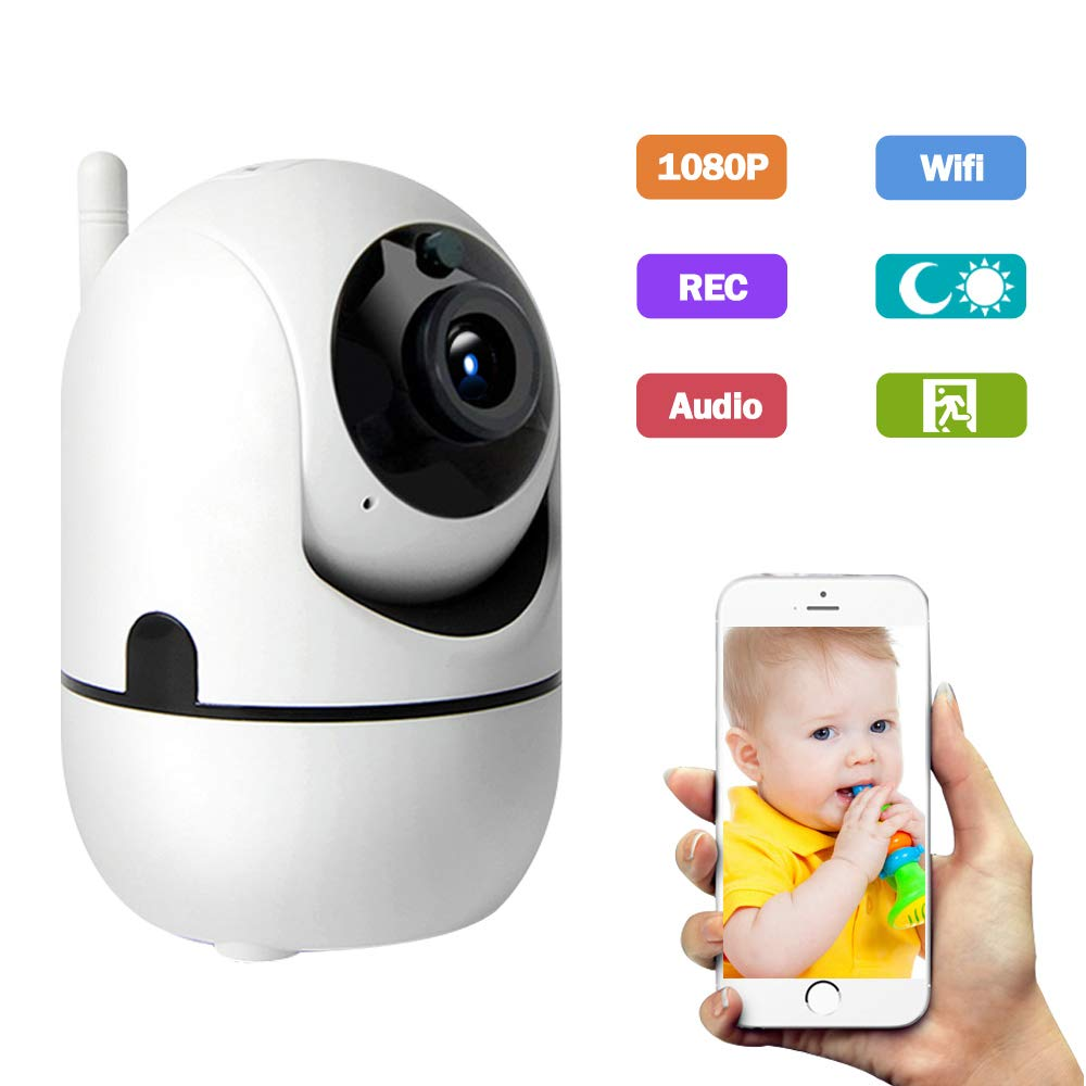 Amorvue 1080p WiFi IP Camera, Wireless Security Surveillance System Home Monitoring Camera with Pan/Tilt,Night Vision, Motion Detection for Baby/Elder/Pet/Home