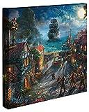 Thomas Kinkade Studios Pirates of the Caribbean Disney Canvas Gallery Wrap