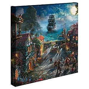 Thomas Kinkade – Gallery Wrapped Canvas , Pirates of the Caribbean , 14″ x 14″ , 65330