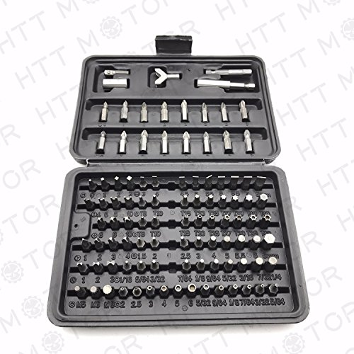 100 PIECE SECURITY BIT SET LOCKSMITH PC TORX HEX (100 Piece Bit Set)