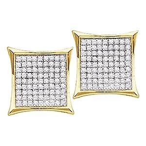 Amazoncom Roy Rose Jewelry 14K Yellow Gold Ladies Diamond Square
