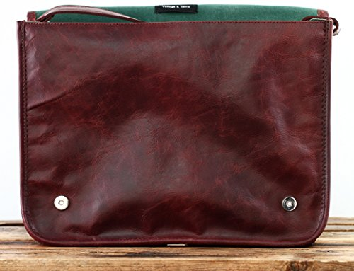 PAUL MARIUS Kuriertasche Messenger Größe L (A4) Laptoptasche Vintage-leder Herbst braun LE MESSAGER