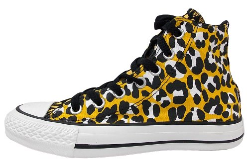 Converse Ctas Cheetah Hi 289130-55-131 Damen Sneaker OLD GOLD / BLACK / WHITE