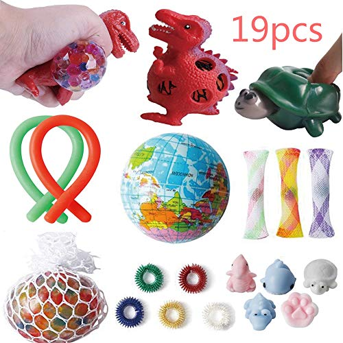 HaiZhiTong Sensory Toy Set - 19 pcs Decompression Toys for Children and Adult Toys, Sensory Treatment Toys ADHD Autism ...