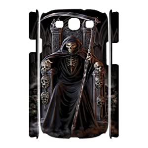 Y-M-D Grim Reaper Samsung Galaxy S3 SIII I9300 TPU Soft Black or White 3D case