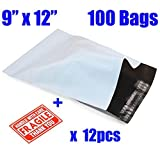 100pcs 9' x12' Poly Mailers Envelopes Self-seal Shipping Bags