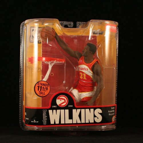 Sports Picks Dominique Wilkins / Atlanta Hawks McFarlane 6 Inch NBA Legends Series 3 Action Figure