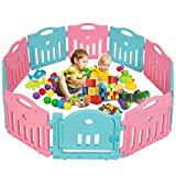Baby Playpen Play Yard Safety Kids Infants Home Indoor 10 Panel Baby Fence with Door